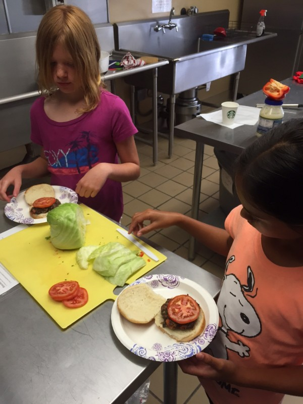 At the end of the lesson, kids and teachers get to eat their creations together.
