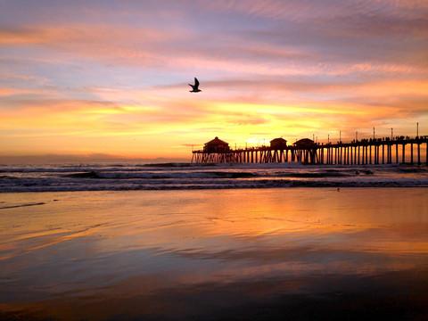Huntington beach sunset | danny collins