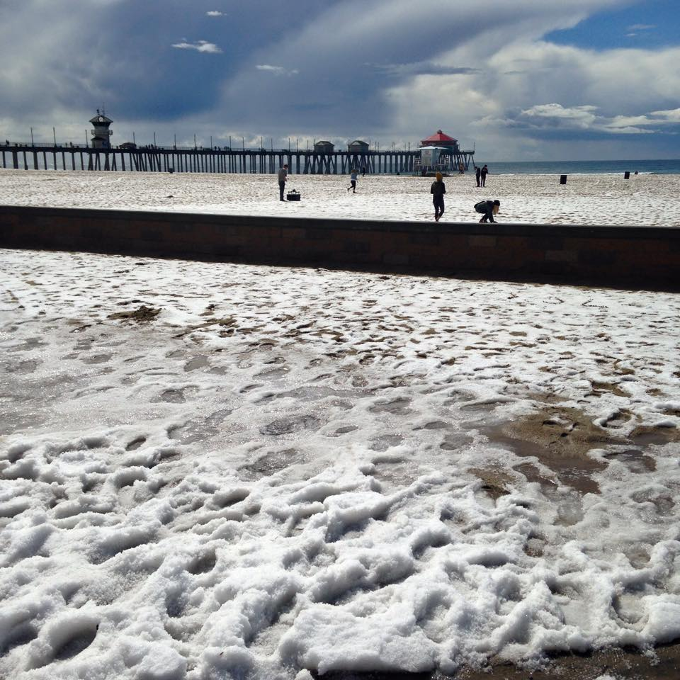 Hail in Huntington Beach