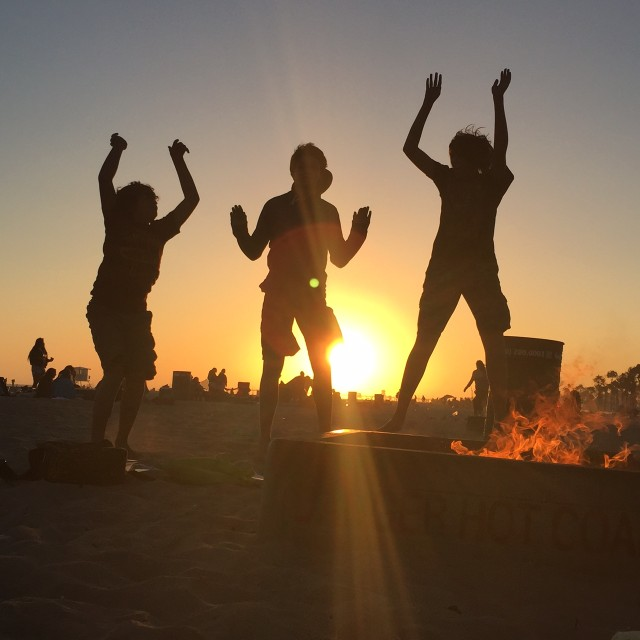 Sunset + Bonfire = Magic