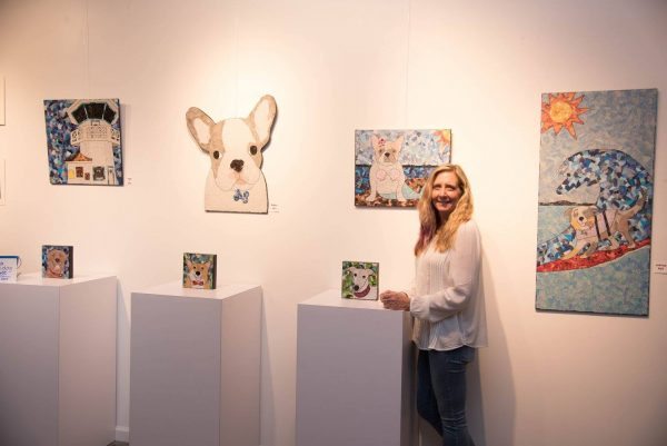 Kimberley was part of the Surf City Surf Dog art exhibit at Rainwater Gallery last September.