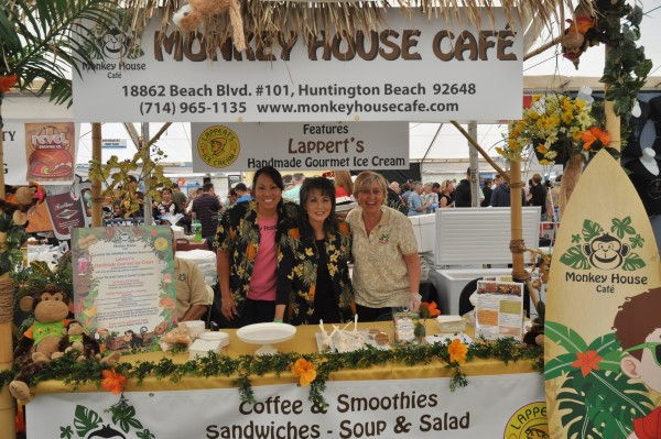 Monkey House Café is a  family-owned business. They introduced Lappert's Ice Cream at their booth during the 2014 Taste of Huntington Beach.