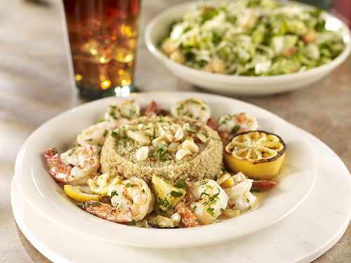 Grilled Shrimp with Quinoa | Stonefire Grill | Surf City Family