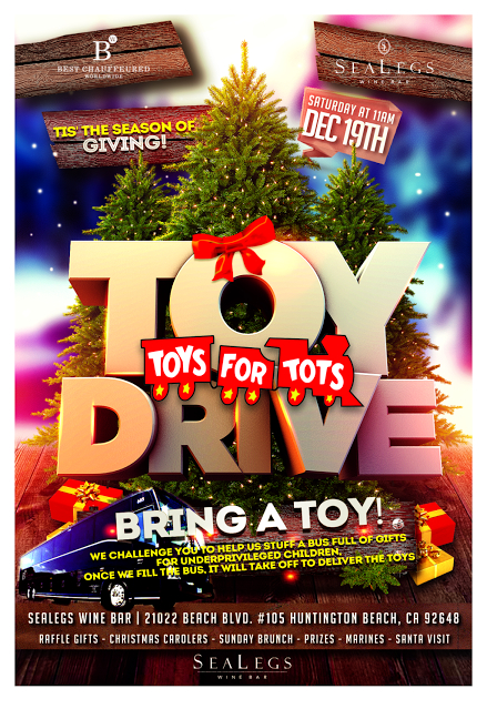 Toys For Tots Family : Nd annual sealegs wine bar toys for tots drive surf