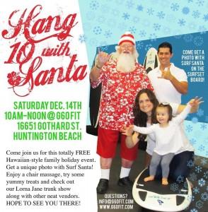 Hang 10 with Santa Event in Huntington Beach