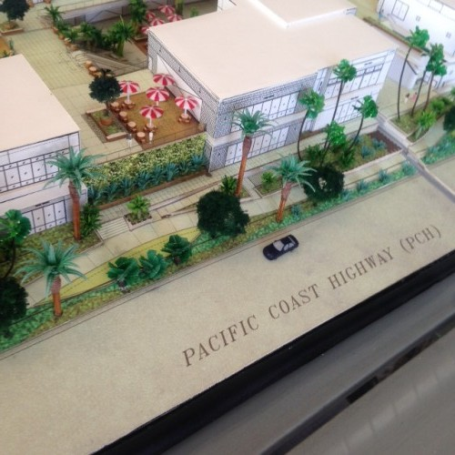 Sneak Peek at Pacific City along PCH. It's set to open in late 2015.