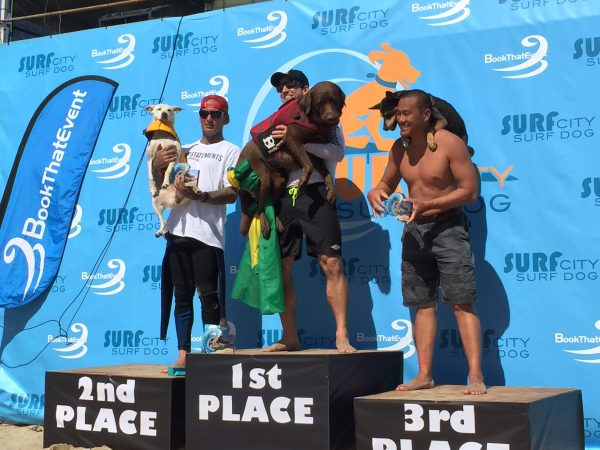 Yewww! Congratulations to Bono the Surf Dog from Brazil, Sugar the Surfing Dog from Huntington Beach and Abbie Girl from San Diego!