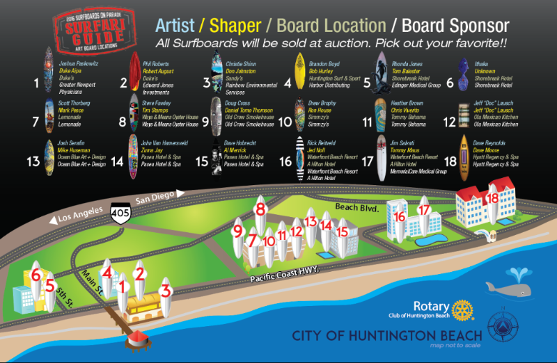 surfboards on parade guide