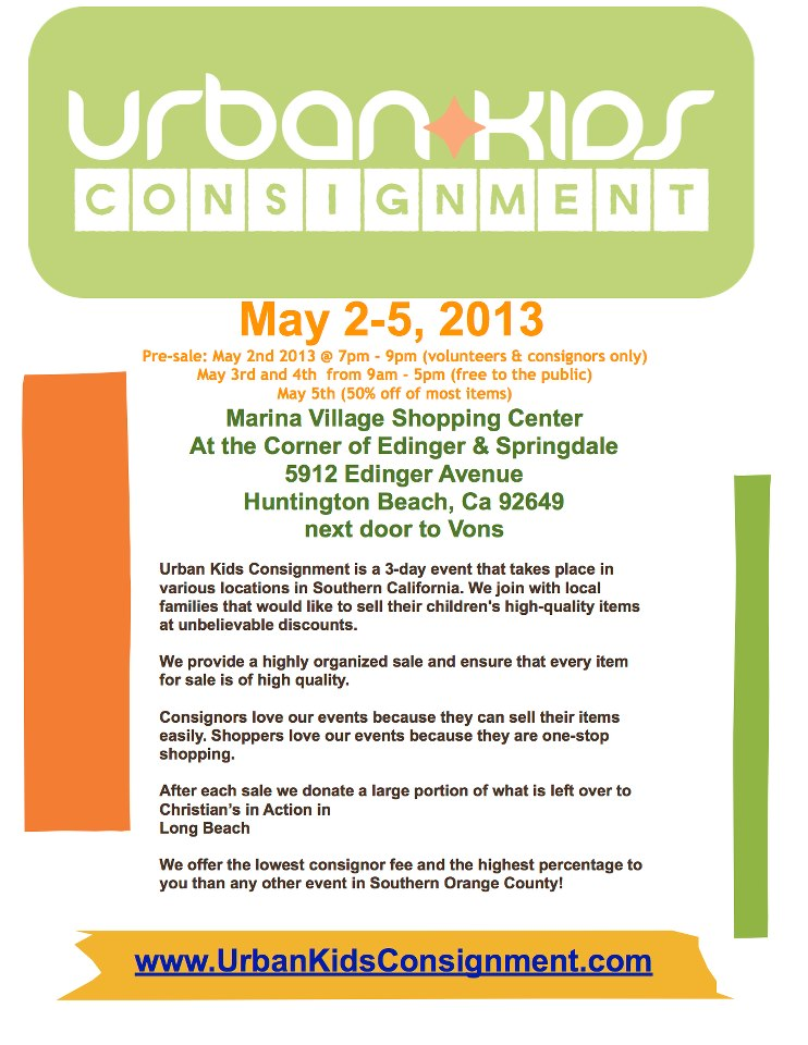 Urban Kids Consignment Sale Flyer