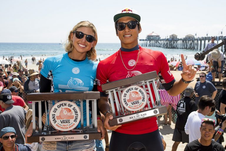 Kanoa Igarashi and Sage Erickson Win 2017 VANS US Open of Surfing