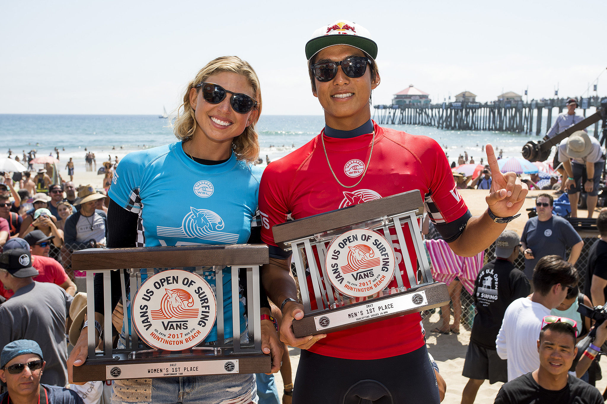 Kanoa Igarashi Sage Erickson 2017 VANS US Open of Surfing Winners