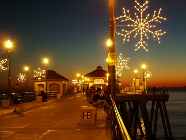 Snowflakes on Huntington Beach Pier