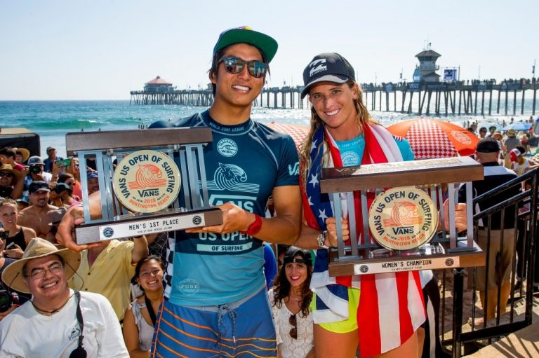 LOCALS KANOA IGARASHI AND COURTNEY CONLOGUE WIN 2018 US OPEN OF SURFING