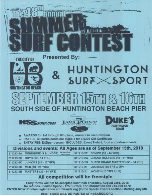 48th Annual Huntington Beach City Surf Contest
