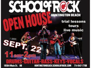 Open House Sept. 22 : School of Rock