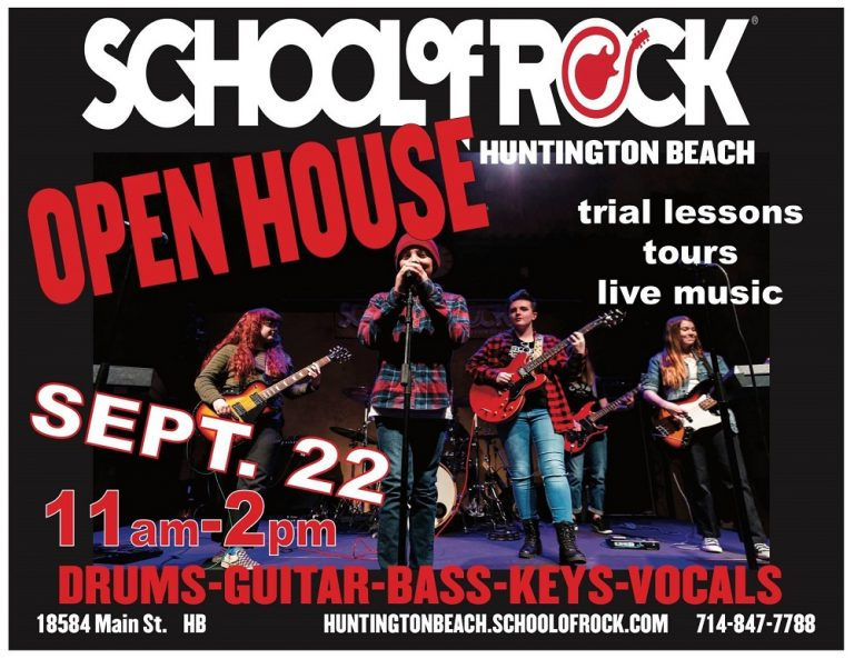 Open House Sept. 22 : School of Rock