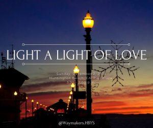 Light a Light of Love, Holiday snowflake lighting
