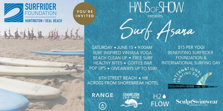 """SURF-ASANA"" International Surf Day Yoga & Beach Clean Up"