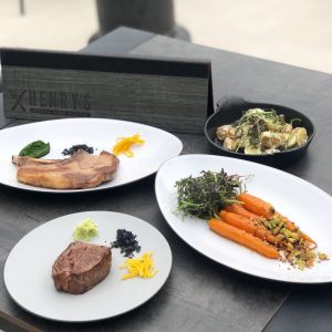 What we ate at Henry's Restaurtant, Waterfront Beach Resort, Hilton in Huntington Beach