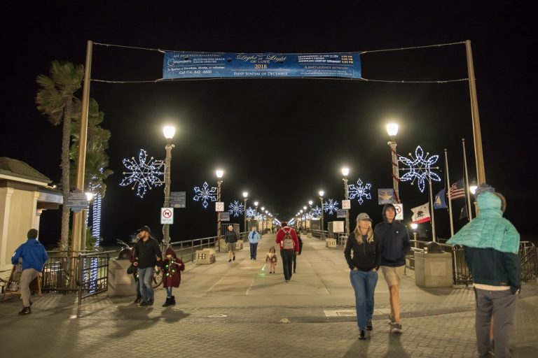 "HUNTINGTON BEACH PIER SNOWFLAKE LIGHTING CEREMONY AND MAIN STREET HOLIDAY PARADE TO BENEFIT LOCAL AT-RISK YOUTH AS PART OF THE ANNUAL ""LIGHT A LIGHT OF LOVE"" CELEBRATION"
