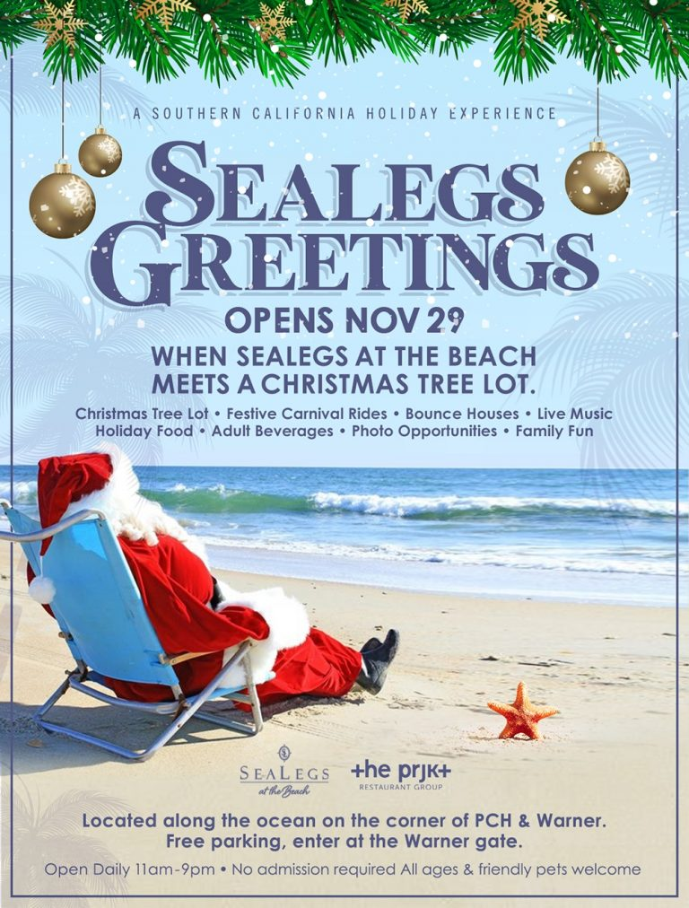 Sealegs at the Beach: Oceanfront Holiday Experience November 29 – January 5, 2020