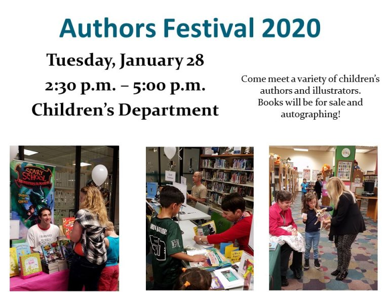 Annual Authors Festival at Huntington Beach Children's Library