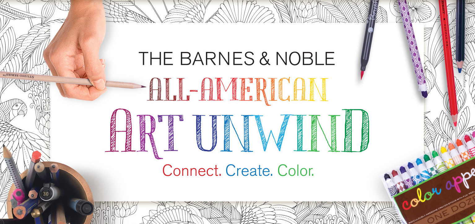 Barnes And Noble All American Art Unwind Coloring Event