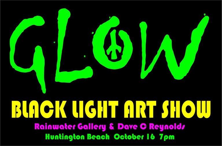 Glow Black Light Art Show Opening Night – Rainwater Gallery