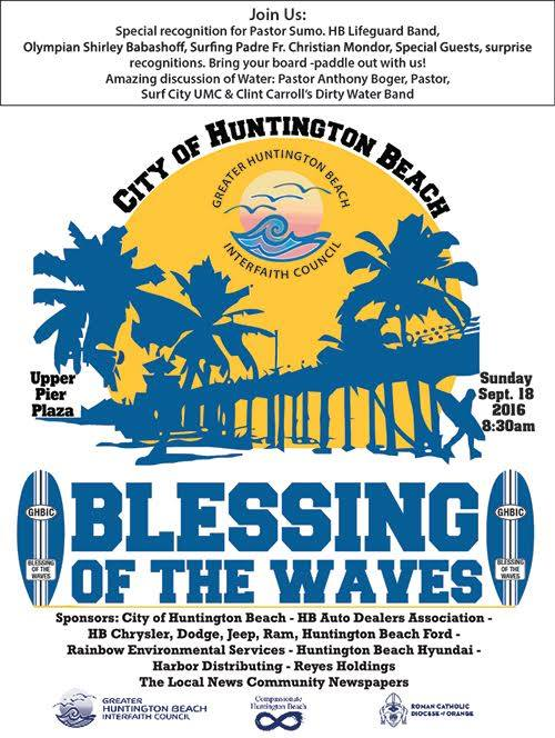 9th Annual Blessing of the Waves on Sunday, September 18
