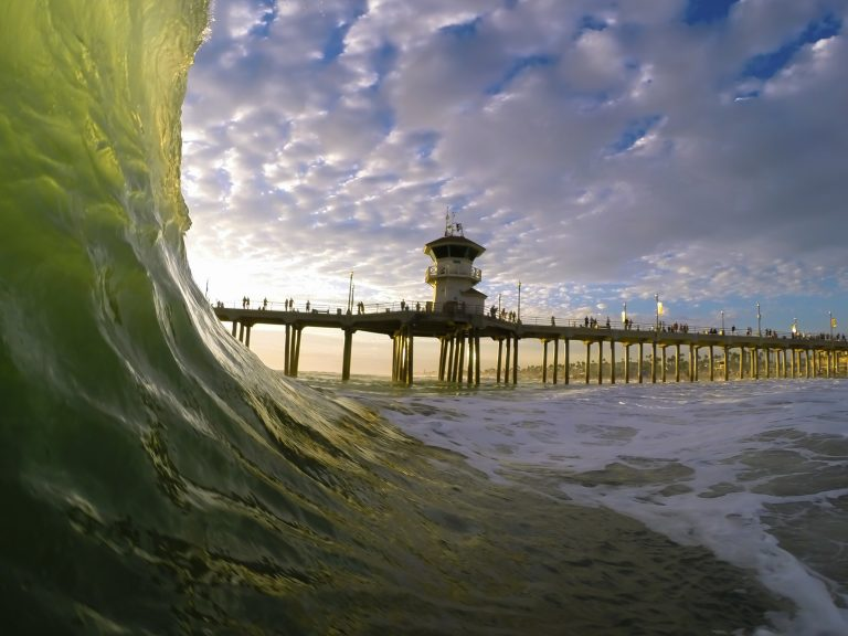 Huntington Beach Water Photography by FotoMerlin