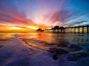 Huntington Beach Sunset, FotoMerlin