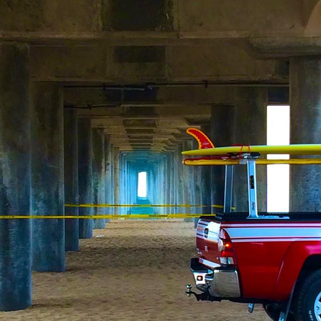 Lifeguard Truck under the pier