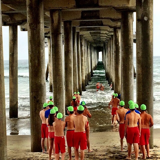 Lifeguards under the pier