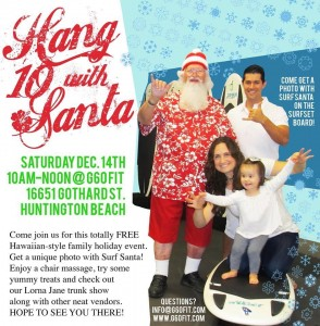 Hang 10 with Santa Event in Huntington Beach