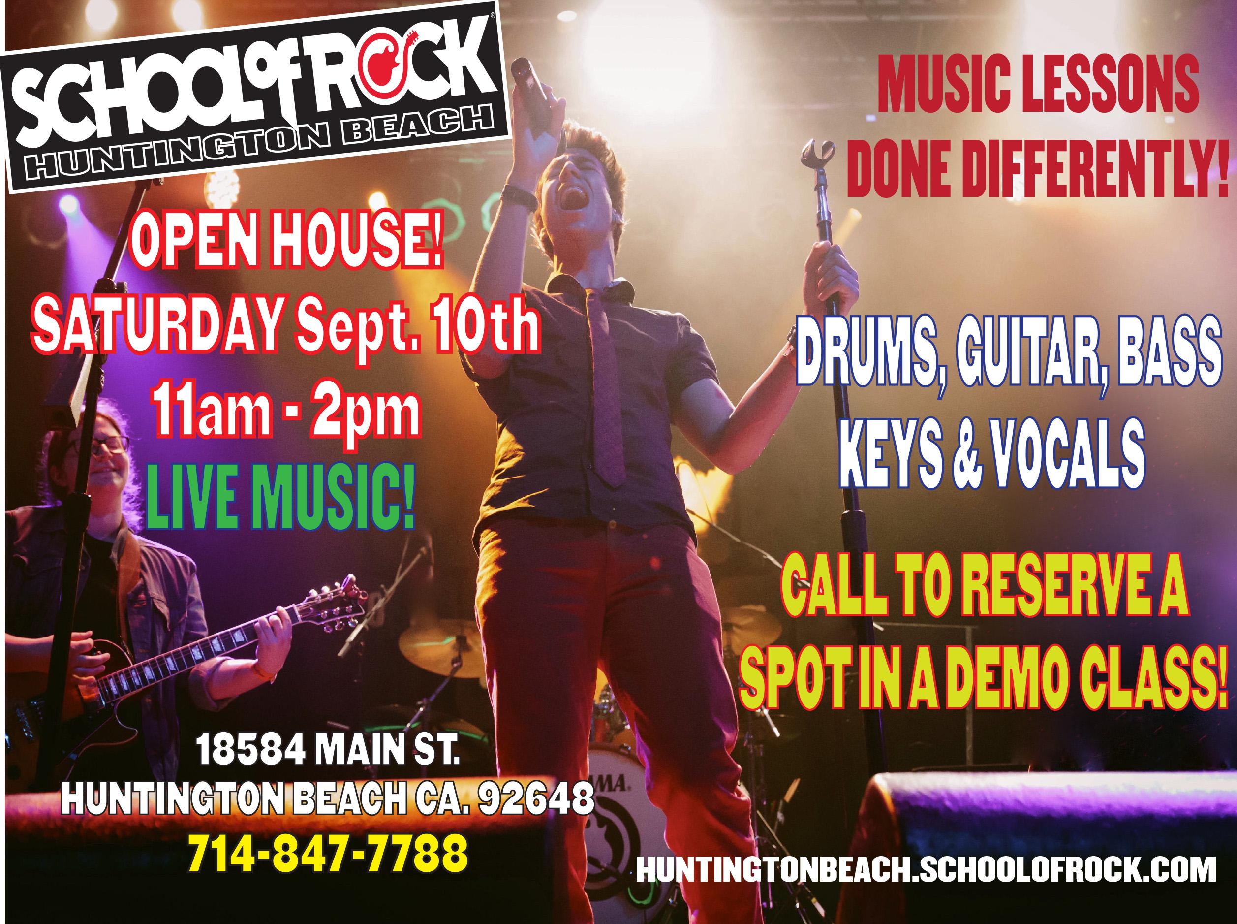 school of rock open house
