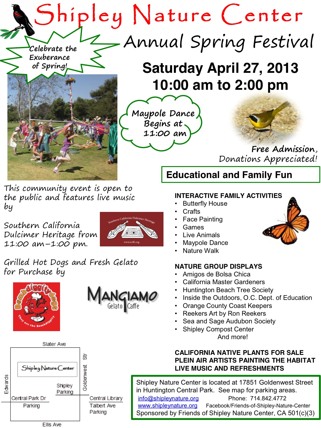Free Spring Festival at HB's Shipley Nature Center on April 27