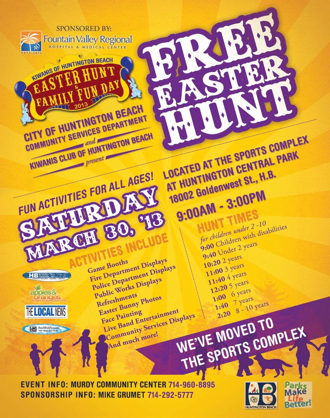Free Family Fun and Easter Hunt in Huntington Beach