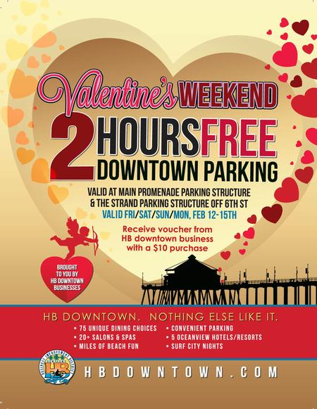 2 Hours Free Parking in Downtown Huntington Beach